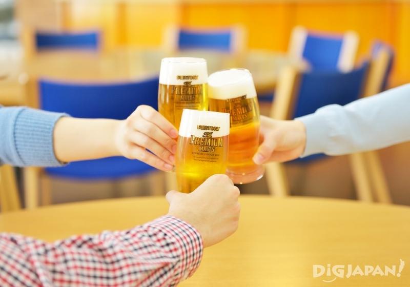 三得利武藏野啤酒工場參觀最後有試飲