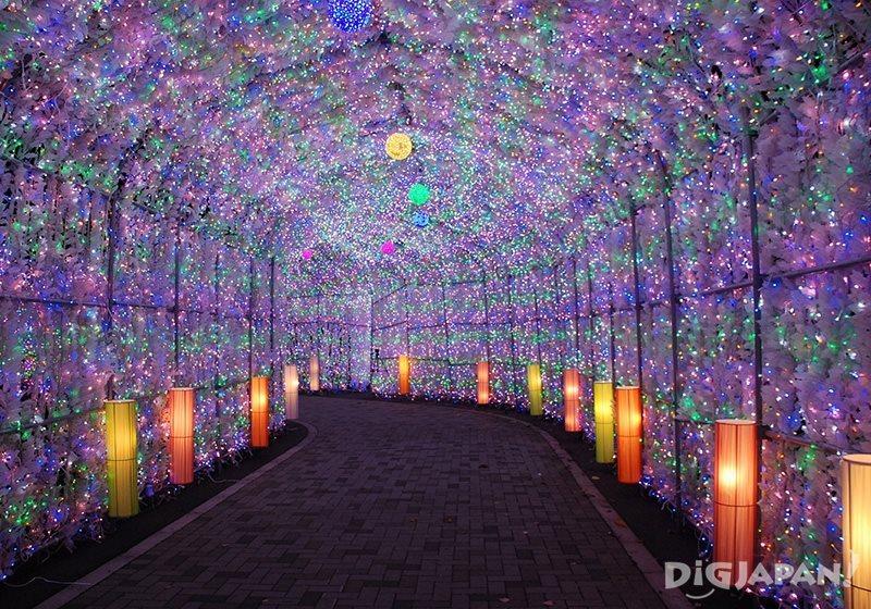 洞爺湖溫泉賞燈隧道1