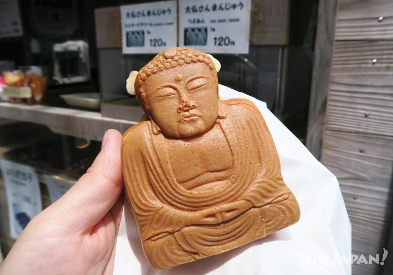 大佛造型紅豆餅 120日元