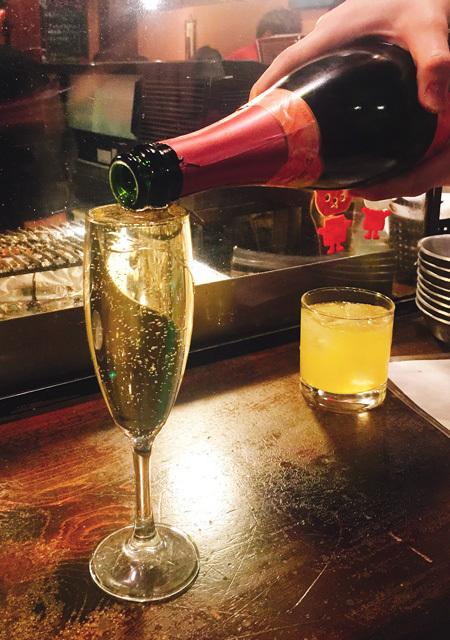 倒滿倒好香檳 580日元
