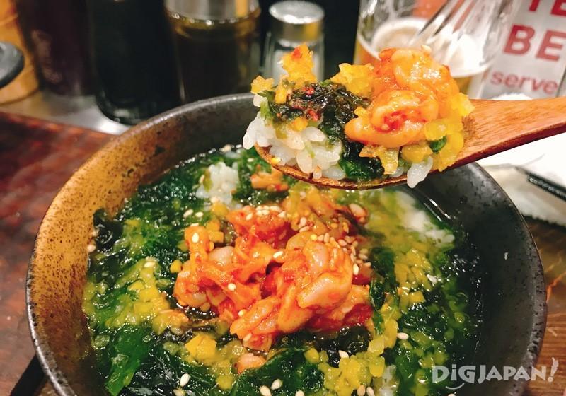 醃漬章魚內臟的茶泡飯 480日元