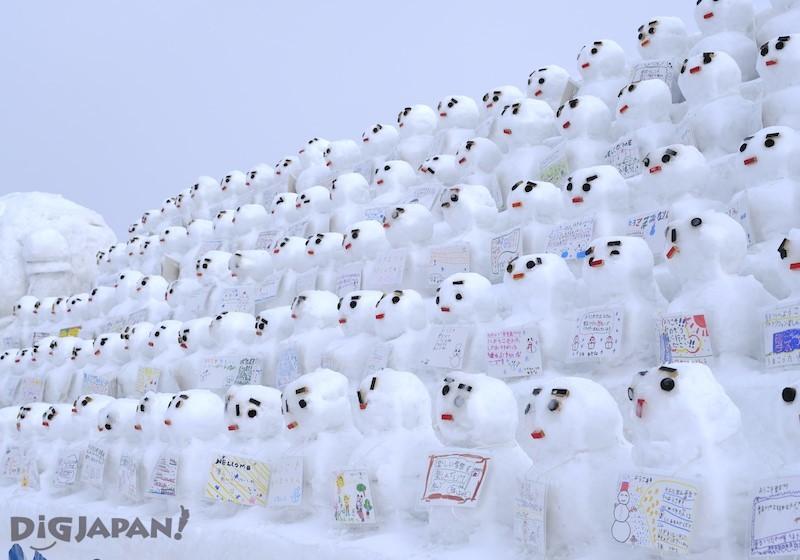 TSUDOME會場 札幌當地人做的雪人