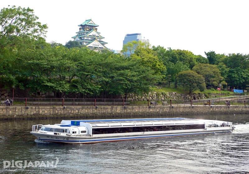 可以觀賞大阪具代表性的復古建築及大阪城