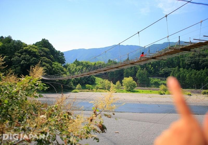 大井川上最長的吊橋