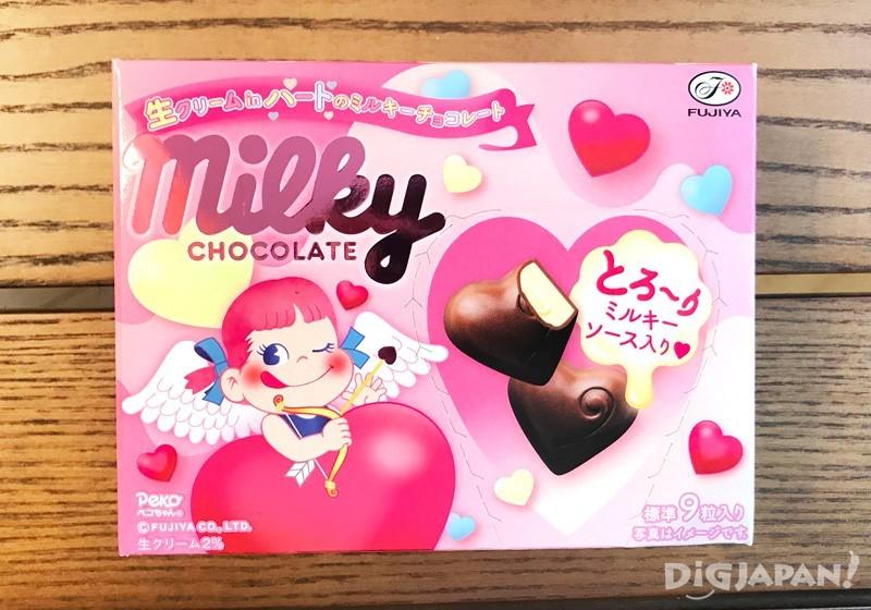 不二家 Milky心型鮮奶油巧克力