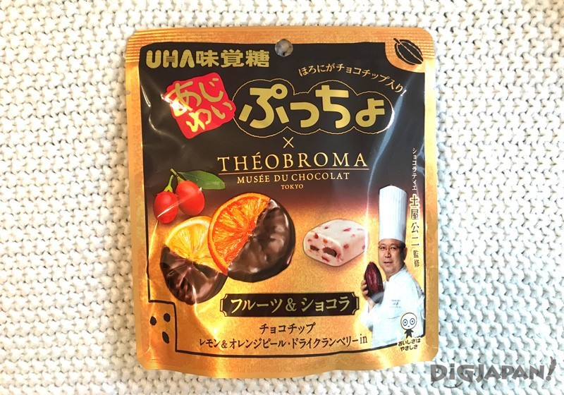 UHA味覺糖 AJIWAI PUCCHO 水果巧克力外包裝