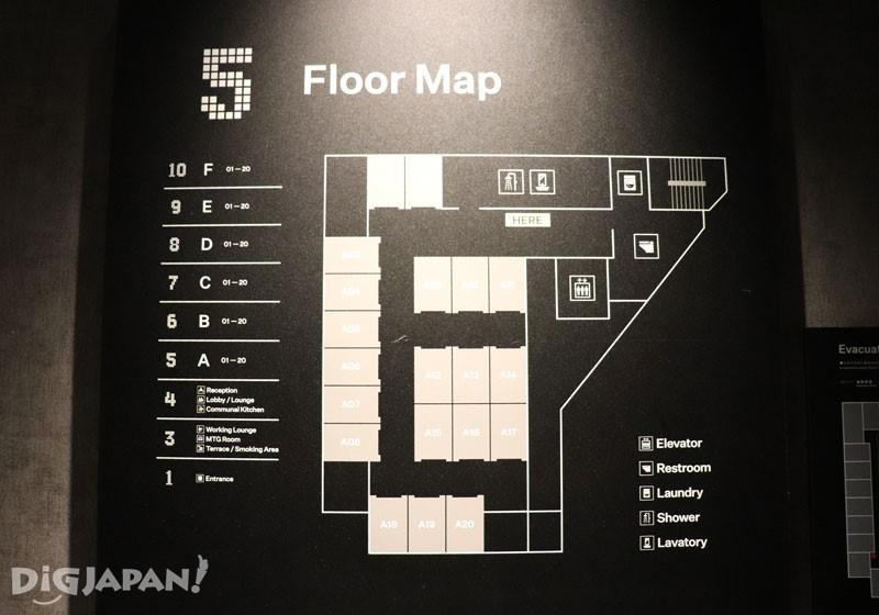 The Millennials Shibuya的5樓到10樓為住宿樓層
