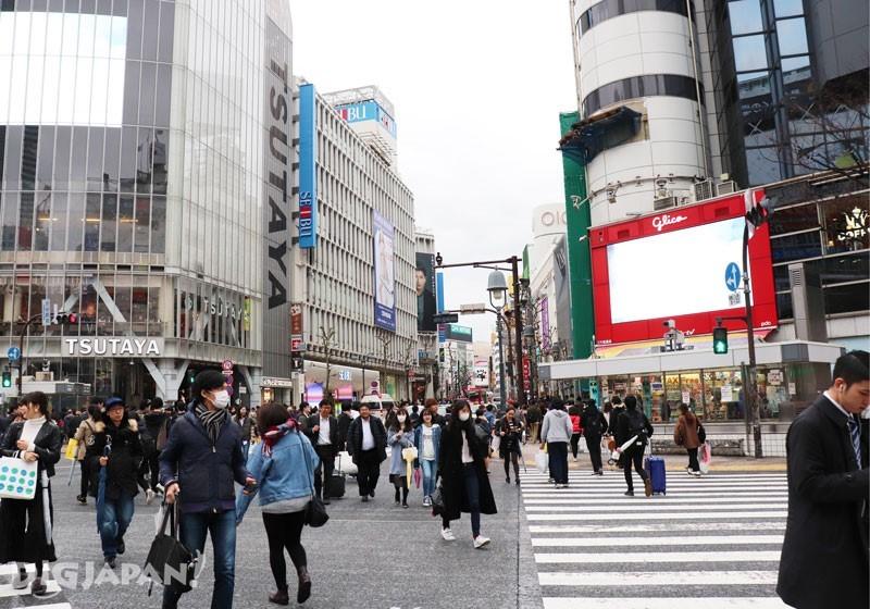 澀谷站前的十字路口
