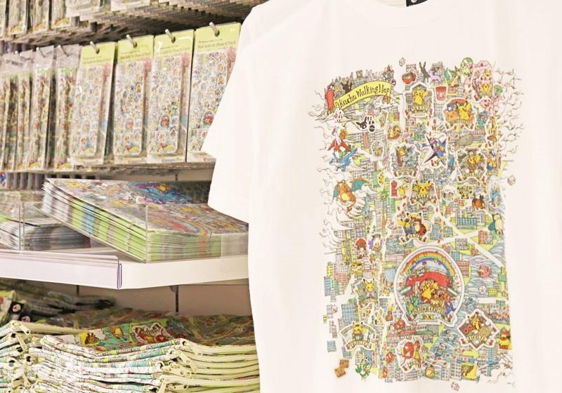 皮卡丘日本橋周邊散步地圖系列商品