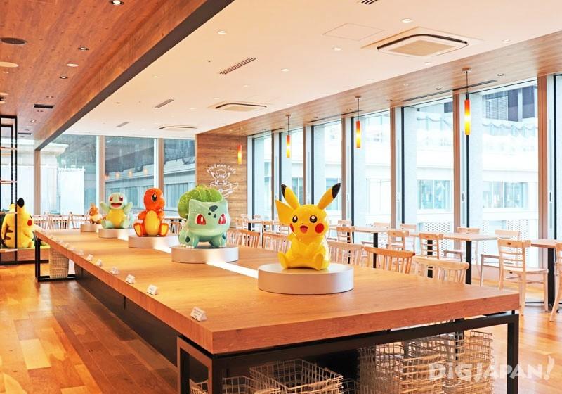 Pokémon Café 寬敞明亮的咖啡廳1