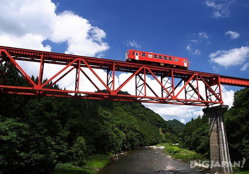 秋田內陸線和鐵橋