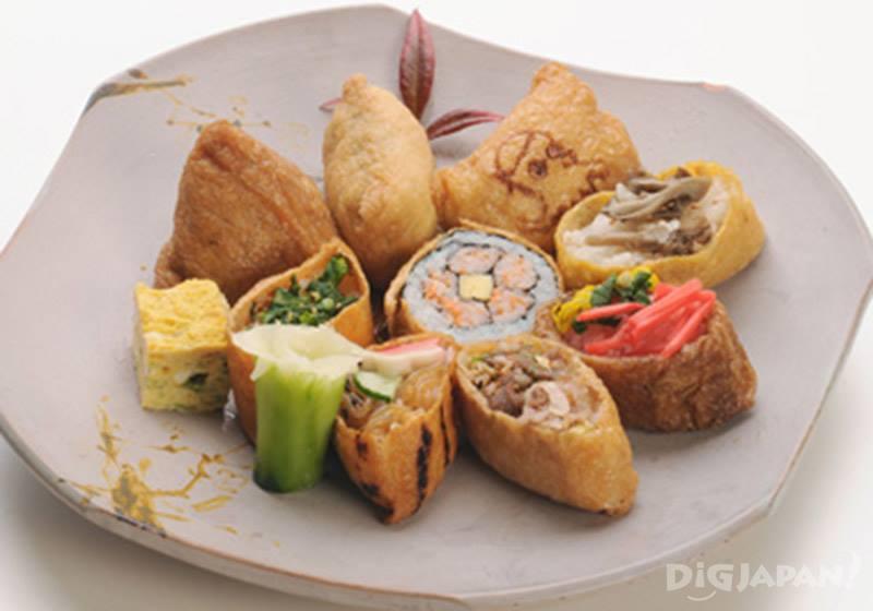 稻荷神社的名產豆皮壽司